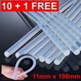 10pcs + 1 Free Hot Melt Glue Sticks (11mm x 190mm)