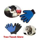 True Touch Five Finger Deshedding Glove Pet Gromming The Hair Away/ Penggosok Bulu Haiwan
