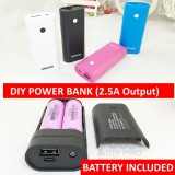 DIY POWER BANK 18650 battery charger (Free Battery 2 x 2600mAh)