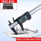 Digital Vernier Caliper 150mm(6 Inch) LCD Gauge Micrometer Measuring Tool (Free Box + Extra Battery)