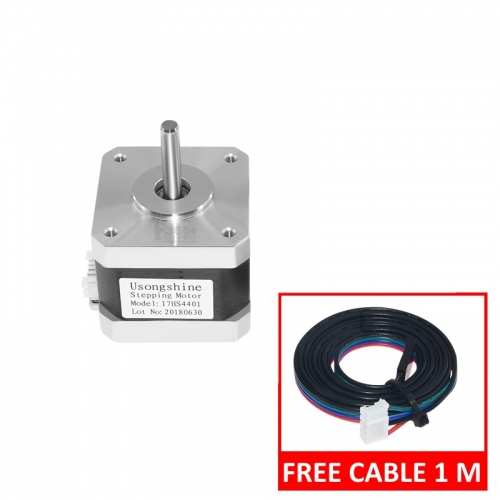 Nema 17 Stepper Motor 0.4N.M 42mm with Lead Cable for 3D Printer/CNC